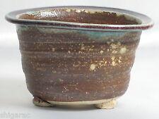 """Bonsai pot Shigaraki grès """"deep nanban ovale petit"""" w14cm planter japonais"""