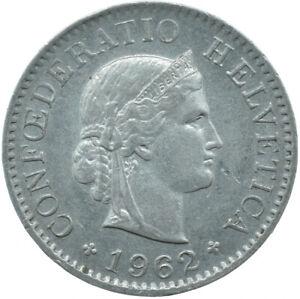 COIN / SWITZERLAND / 5 RAPPEN / HELVETICA  / 1962  #WT17031