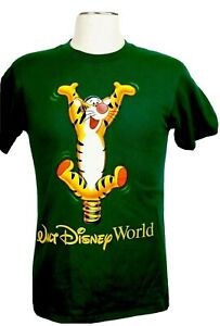 Walt Disney World Tigger Men's Medium Green T-Shirt Great Graphics