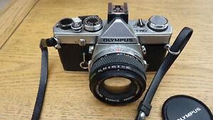 Olympus OM-1 35mm SLR Film Camera with 50mm f/1.8 Lens - faulty