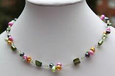 N07 Süßwasser Perle Schmuck Ketten Halsketten Perlenketten Collier Modeschmuck