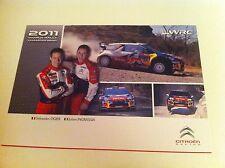 CP POSTCARD CARTOLINA CITROEN DS3 WRC OGIER RALLY WRC RALLYE 2011