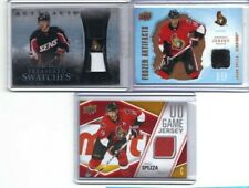 SPEZZA PATCH AND JERSEY:  2010-11 Artifacts Treasured Jersey Patch BluE 01/50
