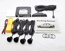 CAR REVERSING PARKING SENSORS 4 SENSOR AUDIO BUZZER AND LED DISPLAY KIT