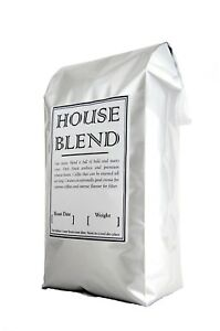 Freshly Roasted Coffee Beans 1kg House Blend Rich and Intense Flavour Espresso