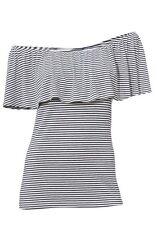 Shirt, Carmenshirt, Ashley Brooke, Gr.42,  95% Viskose, 5% Elasthan, neu
