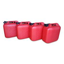 4 x 20 L Kraftstoffkanister Benzin Reserve Kanister Tank UN-Zulassung rot NEU