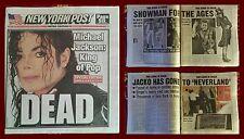 New York Post Michael Jackson morte - MJ dead death NY Post newspaper (2009)