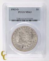 1902-O Silver Morgan Dollar $1 PCGS Graded MS 63