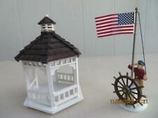 Dept 56 New England Village Raising the Flag - 56687 & Gazebo Village Lampscape