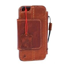 genuine real leather Case for iphone 7 book wallet cover magnetic Removable pro