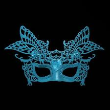 Christmas, New Year, Party Glitter Masquerade Mask with Gem - Blue