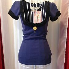 WHEELS AND DOLLBABY Cake Top in Navy Blue Sz 8/small