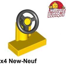 Lego - 4x vehicle voiture Steering Stand 1x2 volant jaune/yellow 3829c01 NEUF