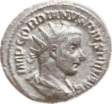 Gordianus III., Denar, Sol frontal stehend