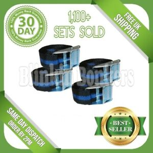 4 TIE DOWN STRAPS LONG NYLON CARGO LOAD LASHING CAM BUCKLE LUGGAGE QUICK RELEASE