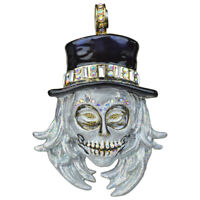 Kirks Folly All Souls Diamond Skull Magnetic Enhancer (Goldtone) with Gift Box