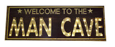Large LED Light Up Man Cave Sign Wall Plaque Furniture Pub Decor Retro Art UK