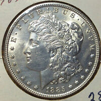 1885 MORGAN SILVER DOLLAR HIGH END COIN FROM OLD TYPE COIN COLLECTION