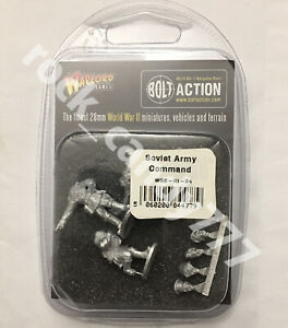 Bolt Action WGB-RI-34 Soviet Army Command WWII Officers & Female Medic Warlord