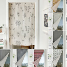 Printed Door Curtain Divider Doorway Kitchen Bathroom Half Curtain Home Decor