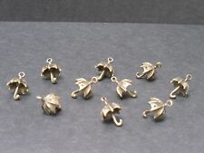 Bronze Tone 3-D Parapluie Charms, PK 10, Fabrication de Bijoux/Artisanat