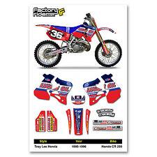 Honda CR 250 1995-1996 Cr 250  dirt bike graphics ENJOY MFG  TLD