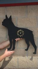 metal boston terrier clock