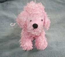 Ganz Fuzzy Pink Poodle Plush Dog