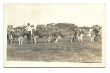 JUDGING CATTLE AT A FAIR  Black & White Real Photo Postcard