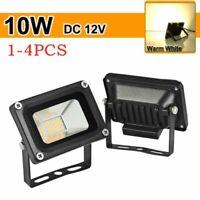 1-4 PACK 10W 12V LED Spotlight Floodlight Outdoor Garden Light Warm White Lamp