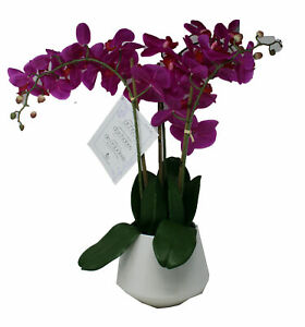 Nearly Natural Triple Stem Phalaenopsis Silk Pink Orchid Decorative Plant