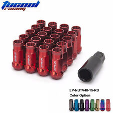 20PCS M12 x 1.25 Forged Steel ACORN Lug Wheel Nuts Open End Strong RED