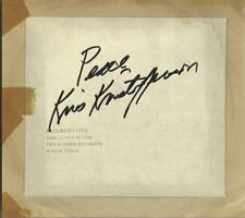 Cedar Creek Sessions * by Kris Kristofferson (CD, 2016, KK Records) Signed