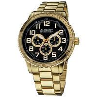 New Men's August Steiner AS8060YG Day/Date Quartz Multifunction Bracelet Watch