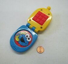 Vintage Sesame Street Mattel BLUE PLASTIC FLIP CELL PHONE 2007 Toy Opens!