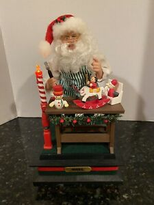 """Vintage 1993 Santa's Workshop Animated Lighted Musical by Holiday Creations 12""""H"""