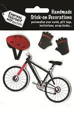 Guantes de Bicicleta, Casco Y Hazlo tú mismo Greeting Card Toppers Adhesiva Craft Decoraciones