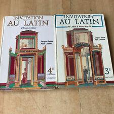 lot 2 livres Invitation au Latin 4e et 3e - Magnard
