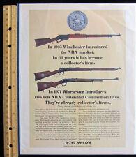 1972 Winchester NRA commemorative rifle Vintage print magazine advertisement