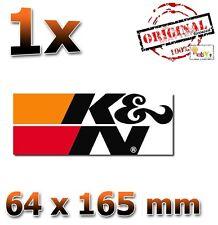 La k&n cut Motorsport negro 64x165 Pegatina Sticker autocollant I.N.R.S. kN