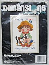"""Dimensions 6615 <> """"Someone To  Love"""" <>Stamped Cross Stitch_1991"""