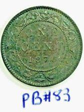 1876 H Canada Large Cent Queen Victoria PB#83