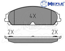 Meyle Brake Pad Set, Front Axle With anti-squeak plate 025 241 6417/W