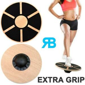Wooden Fitness Wobble Balance Board Rehabilitation Exercise Fitness Gym Wood New