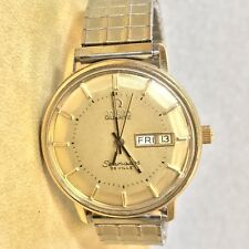 Vintage Omega Seamaster De Ville Quartz Date Day Wrist Watch Rare Model