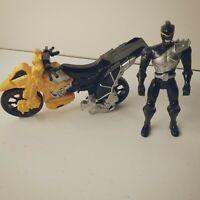 Power Rangers Dino Super Charge Zord Bike Black & Yellow Black Ranger HTF