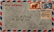 Bh Goldpath: Argentina Cover 1947 Registered Letter Air Mail _Bh_Cv80_P23
