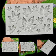 Fondant Cake Decor zucchero cioccolato cottura DIY muffa foglie acero silicone