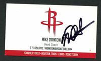 Mike D'Antoni signed autograph Houston Rockets Head Coach Business Card BC101